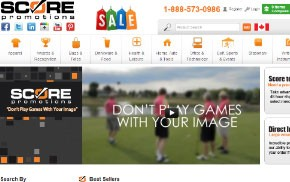 Scorepromotions Web Design