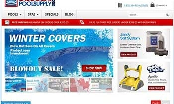 Pool Supply Web Design