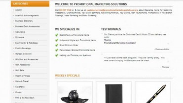Promotional Products Website Design