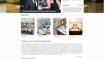 Castle Home Builder Website Design