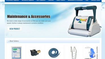 Commercial Pool Spa Ecommerce Website