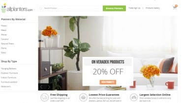 Ecommerce Planters Website