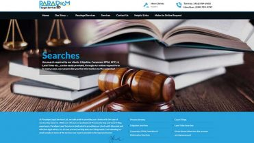 Legal Services Website design